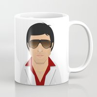 montana Mugs featuring Tony Montana by Capitoni