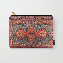 Kashan Poshti Central Persian Rug Print Carry-All Pouch