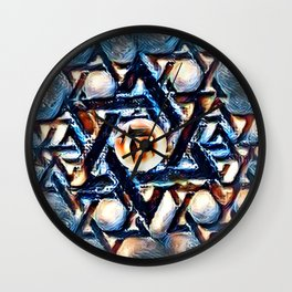 Chai Mandala - Blue Wall Clock