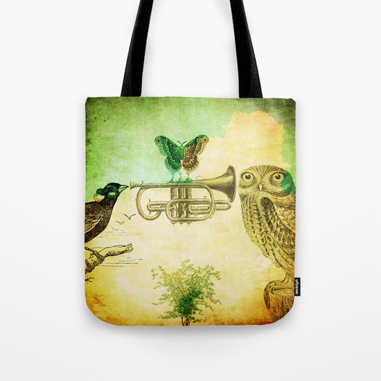 Music of birds Tote Bag