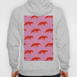 Vintage Cheetahs in Coral + Red Hoody