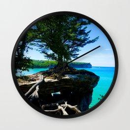 Chapel Rocks Tree Wall Clock
