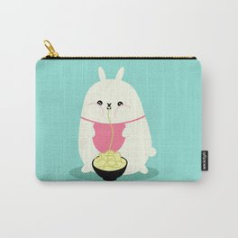 Fat bunny eating noodles Carry-All Pouch