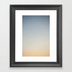 sky gradient 1 Framed Art Print