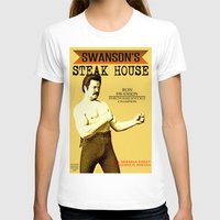 parks and rec T-shirts featuring Ron Swanson  |  Steak House Parody |  Parks and Recreation by Silvio Ledbetter