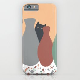 Hidden Cat 5 plant pot iPhone Case