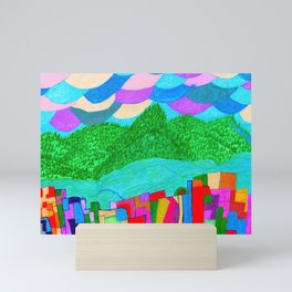 The Forcast for Today, Looks Bright. Have a Good One! Mini Art Print