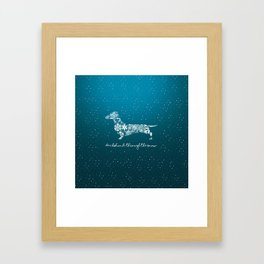 Dachshund Through The Snow Framed Art Print