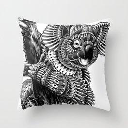 Ornate Koala Throw Pillow