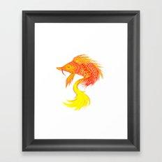 Fire fish Framed Art Print