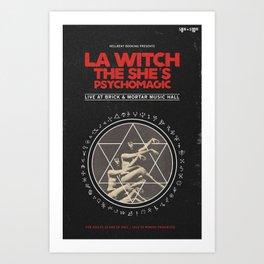 LA Witch Concert Flyer Art Print