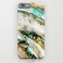 Teal Turquoise Geode iPhone Case