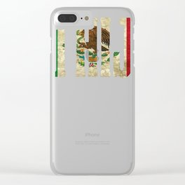 Hija Gift Mexican Design For Mexican Flag Design For Mexican Pride Vintage Flag Clear iPhone Case