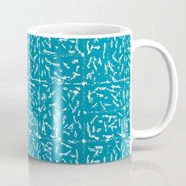 Crosshatch - Teal Coffee Mug