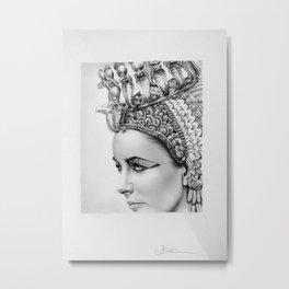 Elizabeth Taylor Cleopatra Portrait Metal Print
