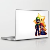 mario bros Laptop & iPad Skins featuring Mario Bros. by StephanieIllustrations