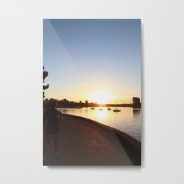 Seawall 3 Metal Print
