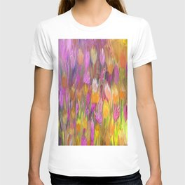 Field of Flowers in Yellow and Pink T-shirt