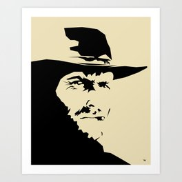 Blondie ( Clint Eastwood ) Art Print