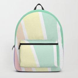 Kirovair Art Deco Pastel Rainbow #minimal #art #design #kirovair #buyart #decor #home Backpack