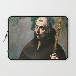 "El Greco (Domenikos Theotokopoulos) ""Saint Benedict"" Laptop Sleeve"