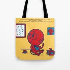The Monkey and the Rain Tote Bag