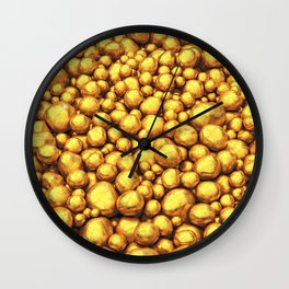 Raw gold Wall Clock