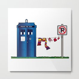 Doctor Who: tardis wardrobe  Metal Print