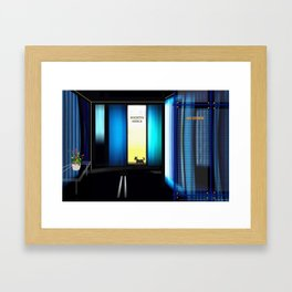 Late in the office. Framed Art Print