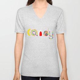 Candy Unisex V-Neck