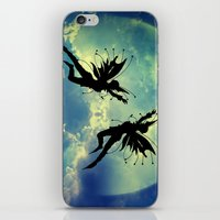 fairies iPhone & iPod Skins featuring Moon Fairies by haroulita