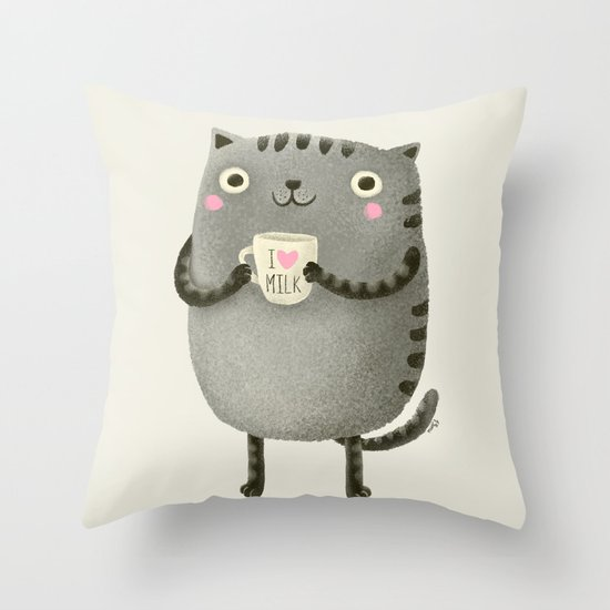 I♥milk Throw Pillow