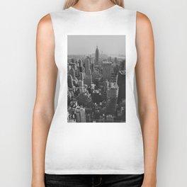 New York City Print Biker Tank