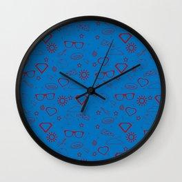 Supergirl/Kara's pattern - red Wall Clock