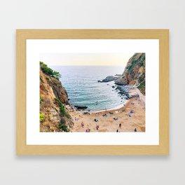 Tossa de Mar beach Framed Art Print