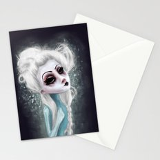black cold surrounds me Stationery Cards