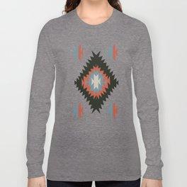 Southwestern Santa Fe Tribal Indian Pattern Long Sleeve T-shirt