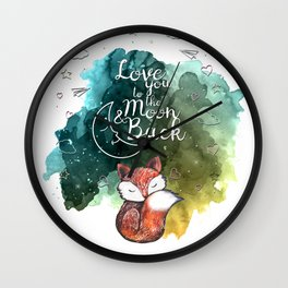 Love Fox Wall Clock