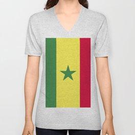 Senegal flag emblem Unisex V-Neck