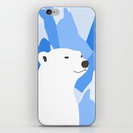 Polar Bear In The Cold Design iPhone Skin