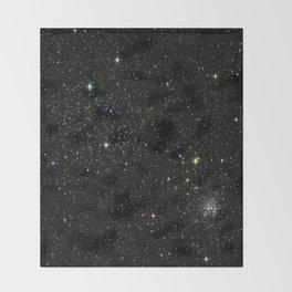 Space - Stars - Starry Night - Black - Universe - Deep Space Throw Blanket