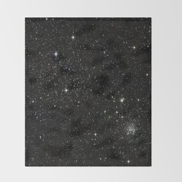 Space - Stars - Starry Night - Black - Universe - Deep Space Throw Blanket