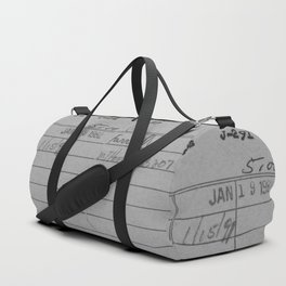 Library Card 797 Gray Duffle Bag