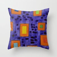 frames Throw Pillows featuring Illuminated Frames by Heidi Capitaine