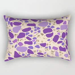 Terrazzo - Mosaic - pastel purples and gold Rectangular Pillow