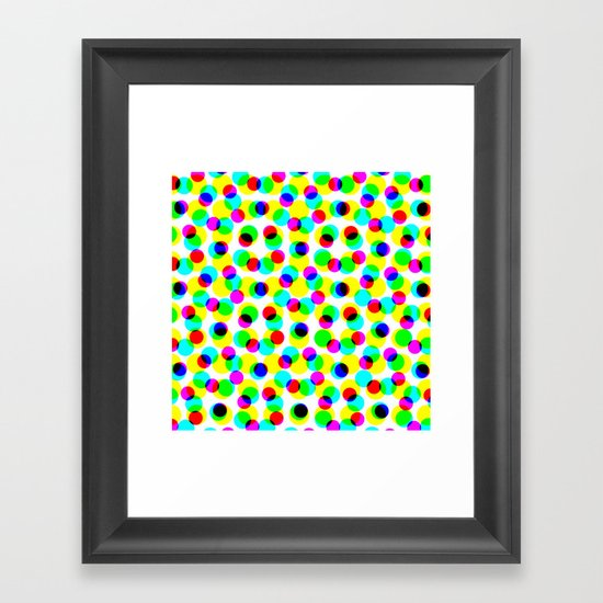 COLORFUL DOT Framed Art Print