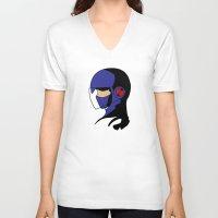 megaman V-neck T-shirts featuring Enforcer Megaman by DonCorgi