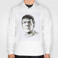 spock Hoodies featuring Spock by Sara (aka Wisney)