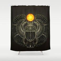 Sacred Scarab (v2) Shower Curtain