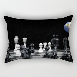 Playing on the moon Rectangular Pillow